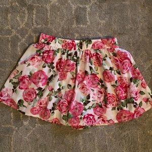 Floral print skort